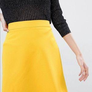 ASOS Yellow Mini Skirt
